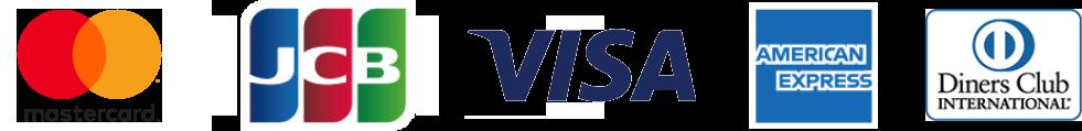 mastercard JCB visa americanexpress dinersclub